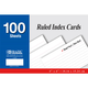 Ruled White Index Cards (4