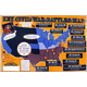 Key Civil War Battles Map Poster