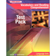 Vocabulary & Reading Comp Test Pack & Ans Key