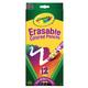 Crayola Erasable Colored Pencils 12 Count
