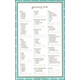Grocery List Note Pad