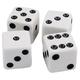 Dice - Set of 4 white w/ black dots
