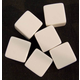 Counting Cubes - set of 6 white blank cubes