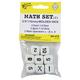 Math Set 2 - Set of 8 Dice (3 Numbers 1-6, 3 Numbers 7-12, 2 Math Operators)