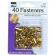 Fasteners - Round Head - Brass Plated 3/4