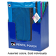 Pencil Pouch - 2 Pockets (assorted color)