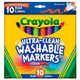 Crayola Ultra-Clean Washable Broad Line Markers - Bold 10 Count