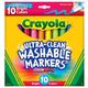 Crayola UC Wshbl Brd Line Markers-Bright 10ct