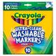 Crayola UC Wshbl Brd Line Markers-Classic 10
