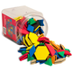 Pattern Blocks - Magnetic Foam 200-Piece Bucket
