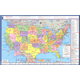USA/World Laminated Desk Map 18