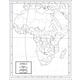 Africa Map Laminated single (8+