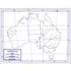 Australia Map Paper single (8+