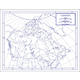Canada Map Paper single (8+