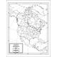 North America Map Laminated single (8+
