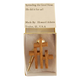 Triple Cross Tie Tack - Oak