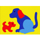 Dog & Puppy Crepe Rubber Puzzle (5 pieces)