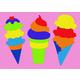 Ice Cream Crepe Rubber Puzzle (18 pieces)