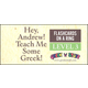 Hey, Andrew! Teach Me Some Greek! Flashcards on a Ring Level 3