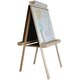 Deluxe Child's Easel: Chalkboard/Markerboard with Wood Trays 48