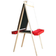 Deluxe Child's Easel: Magnetboard/Chalkboard with Red Trays 48