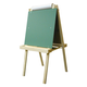 Deluxe Child's Easel: Magnetboard/Chalkboard with Wood Trays 48