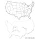 USA Map Whiteboard, 2-sided 9