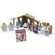 Nativity Set w/ Storybook (PVC Plastic)