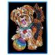 Sequin Art Blue Puppy