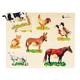 Farm Animals Photo Knobbed Puzzle