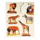 Wild Animals Photo Knobbed Puzzle