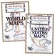 Olde World Style United States & World Maps CD Combo-Pak