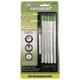 Ticonderoga Sensematic Pencil .7mm Silver Barrel with Refill Eraser & Leads - Set of 5