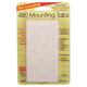 Removable Mounting Tabs - 480 Tabs 1/2