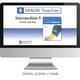 Saxon Math Homeschool Intermediate Teacher Digital License 1 Year Digital Level 5
