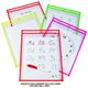 Reusable Dry Erase Pocket 9x12 Neon EA
