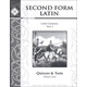 Second Form Latin Quizzes & Tests