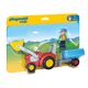 Tractor with Trailer (Playmobil 1-2-3)