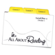 All About Reading Level Pre-Reading Divider Cards for Activity Box