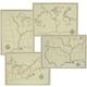 Holling C. Holling Map Set (4 Maps)