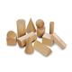 Mini Wooden Geosolids - set of 12