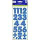 Number Stickers: Basic Blue 1