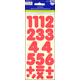 Number Stickers: Basic Red 1