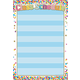 Confetti Class Schedule Smart Poly Chart Write-On/Wipe-Off