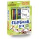 Flip Book Kits - Animals Kit (Frog & Butterfly + 2 blank books) Art Kit