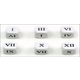 Roman Numerals Number Dice 1-6 & 7-12 (20mm Six Sided)