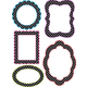 Die-Cut Decorative Magnetic Frames Write-On/Wipe-Off - White Dots on Black