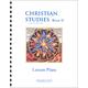 Christian Studies Book II Lesson Plans