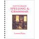 Fifth Grade Spelling & Grammar Lesson Plans