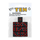 Black Dice with Red Dots (10 per bag - 16mm)